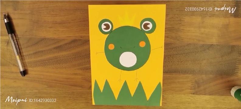 小青蛙幼儿手工制作