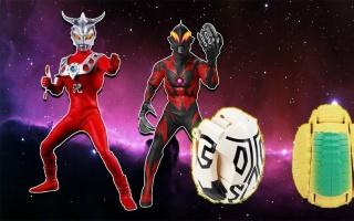 银河英雄奥特曼卡片玩具 奥特曼和怪兽贝利亚