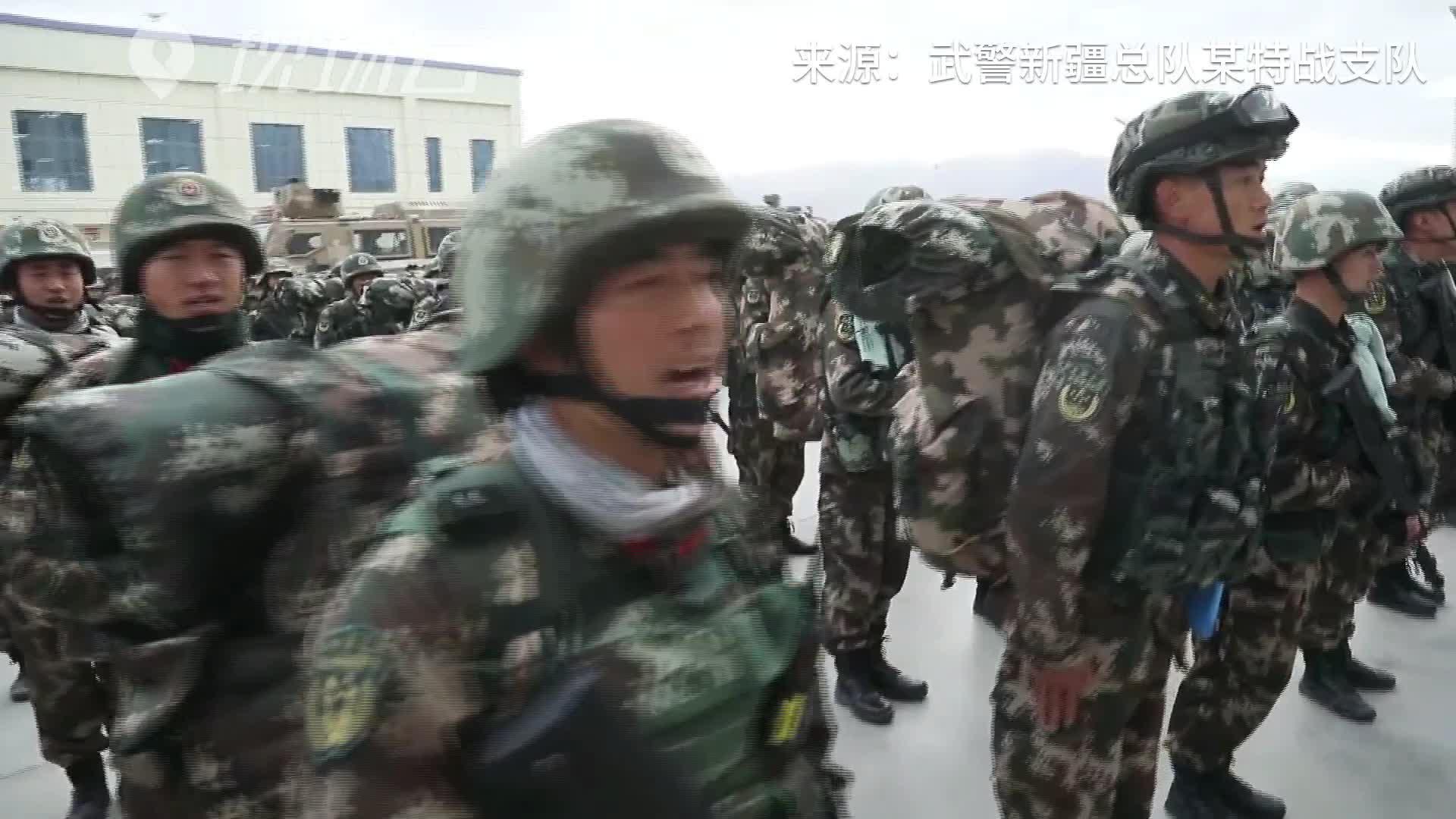 新疆武警再出发!高原训练挑战体能极限