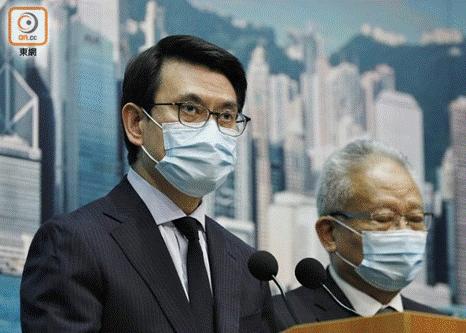 """邱腾华(左)批评美国行为是""""指白为黑""""。(图片来源:香港""""东网"""")"""