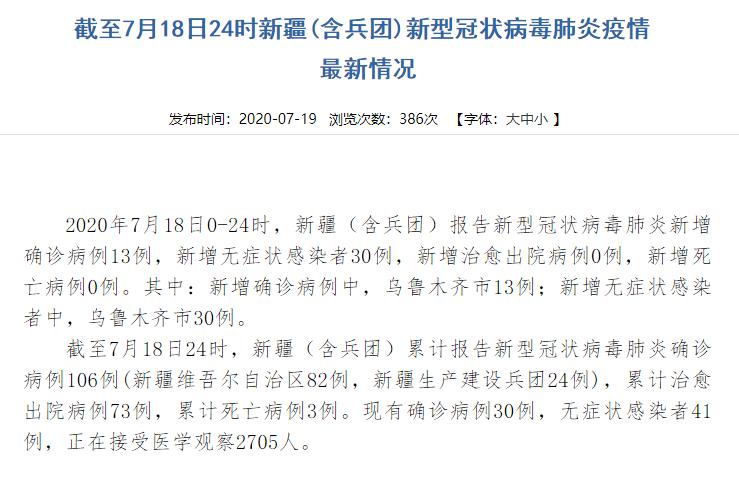 新疆新增本土病例112例