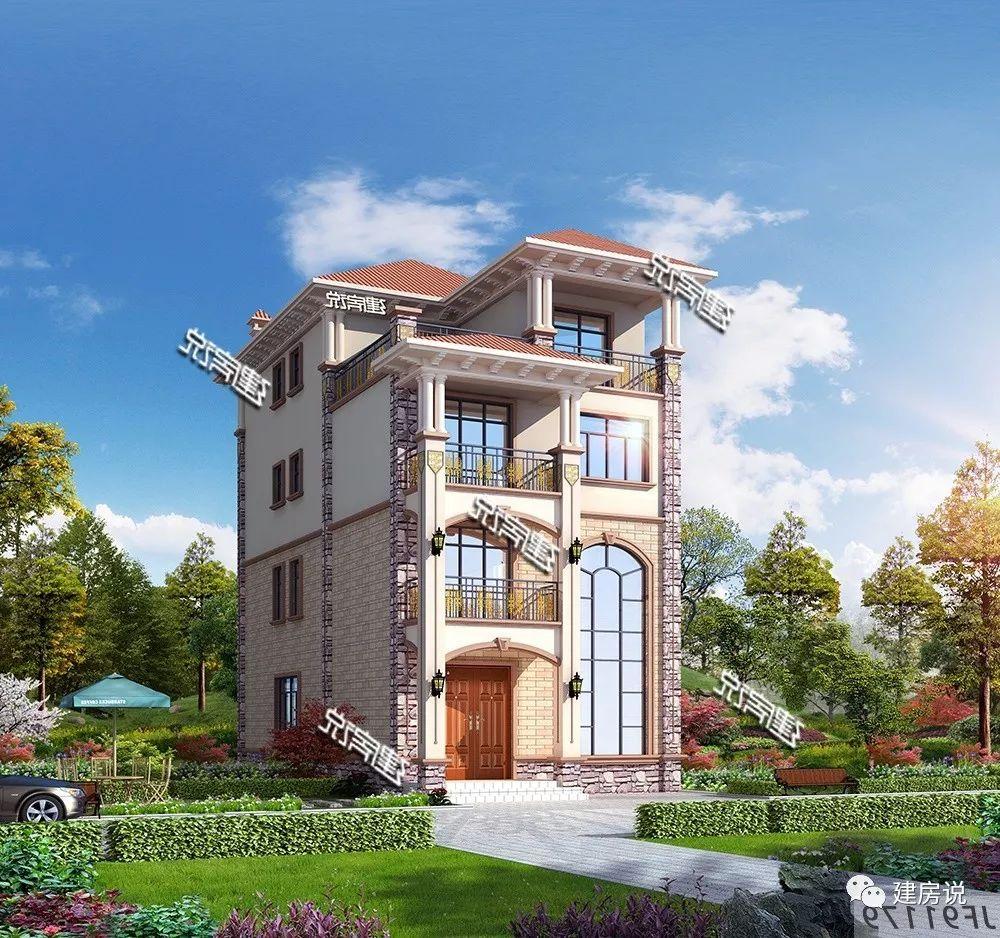 面宽8米的欧式别墅,非常适用,广东朋友最喜欢