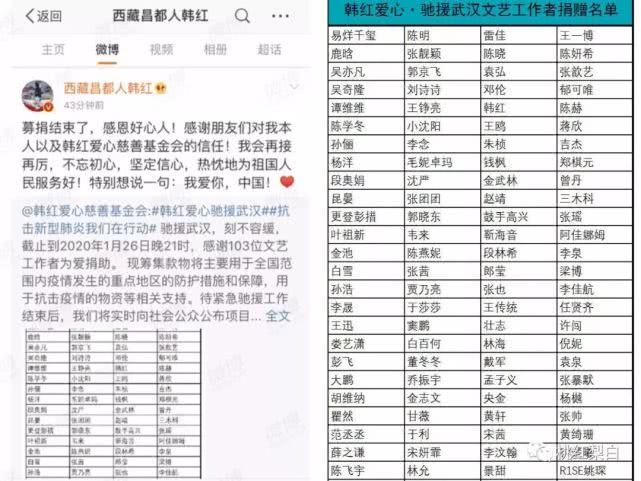 7天筹款1亿4,带动大半个娱乐圈献爱心,这次还有人说韩红作秀吗?