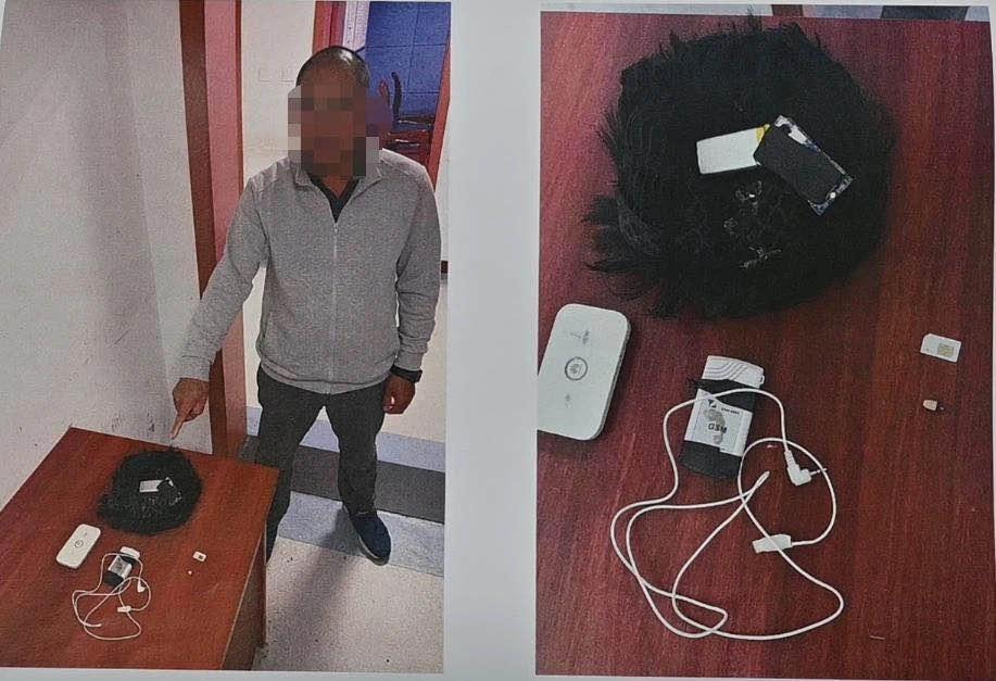 【刷百度快照】_花2万7千元作弊,五旬考生驾照理论考时戴假发、摄像头被抓