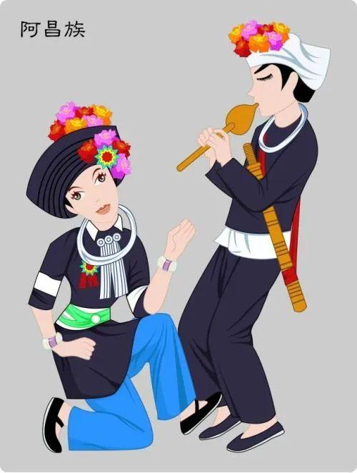 维吾尔民族服装简笔画