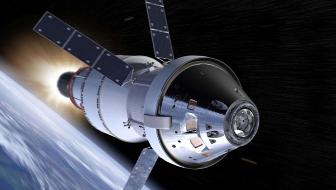 """美国""""猎户座""""飞船,其将是未来美国载人探月、探火的主力。"""