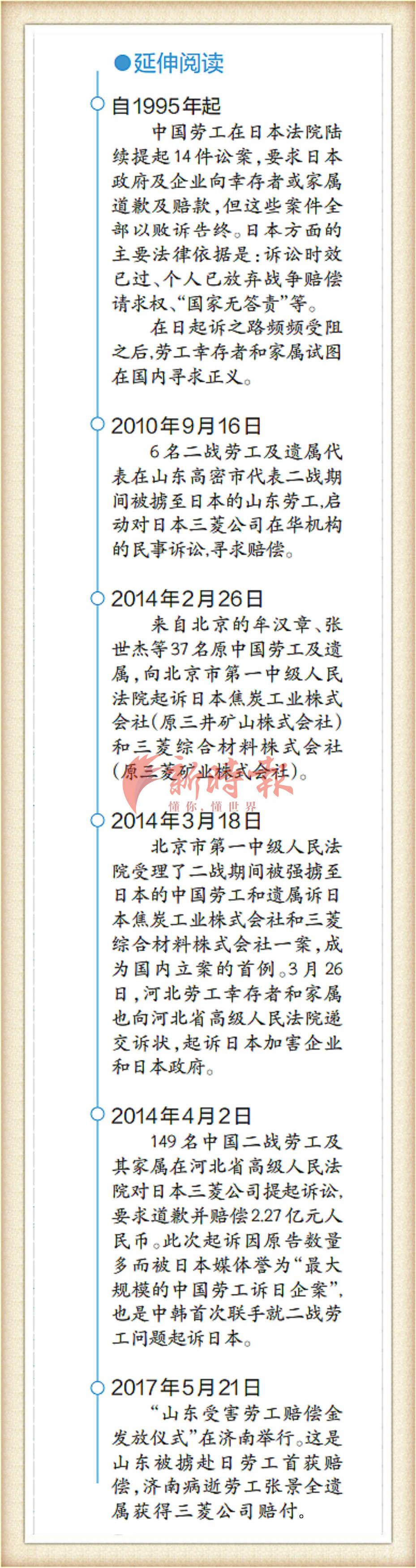 中国被掳劳工对日诉讼索赔取得重大进展