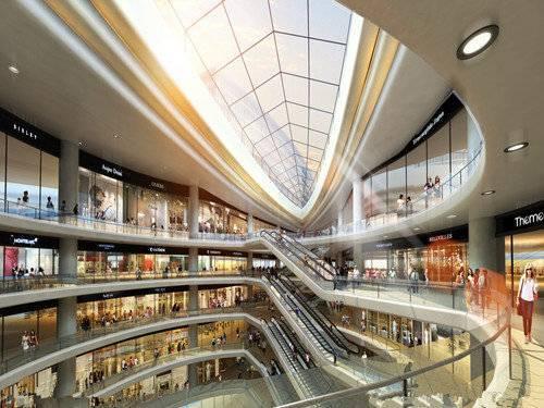 很多综合商场每层的走廊,都是一个细长的大圆圈