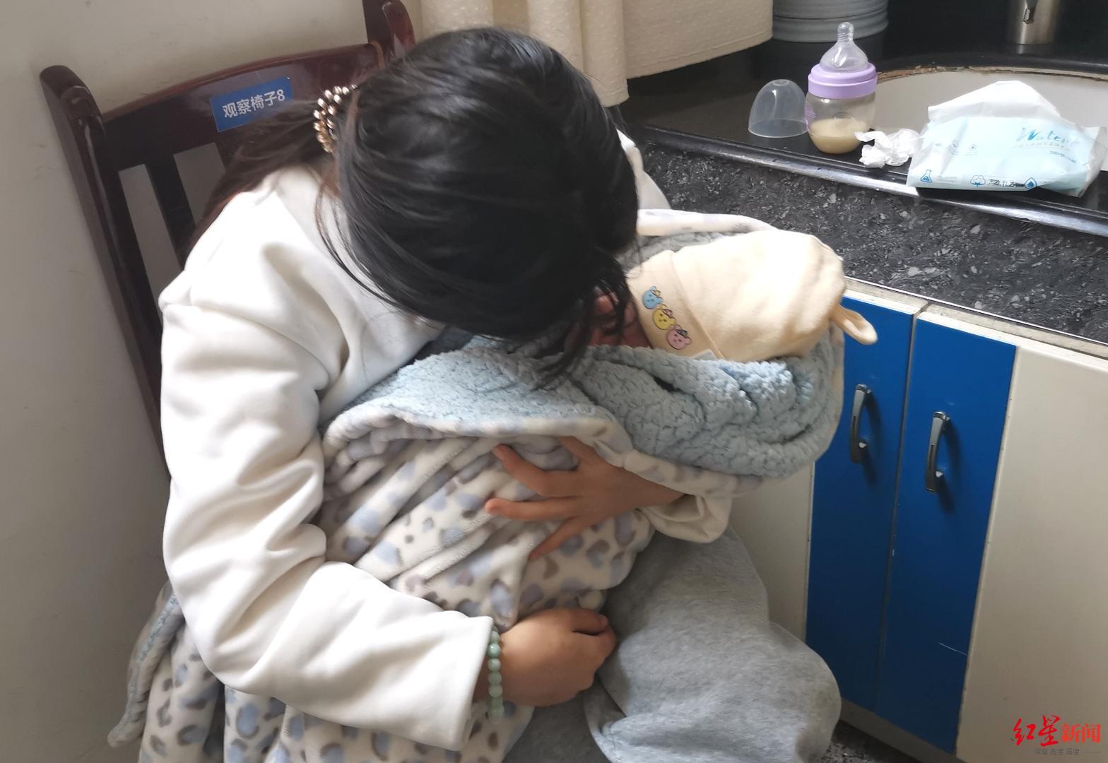 四川樂山一剛出生40天女嬰草坪上曬太陽,被男童踩傷頭部