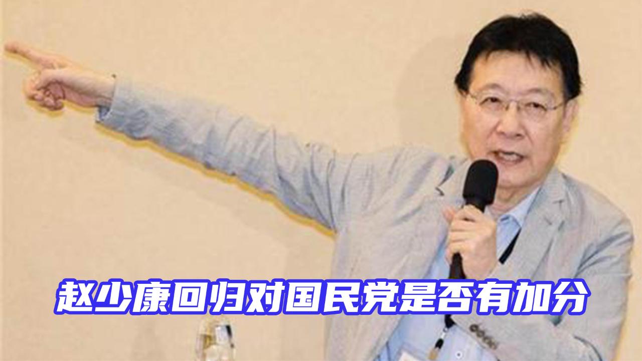 赵少康战力几何,回归对国民党是否有加分?