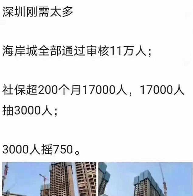 深圳11萬人搶700套房?假的!