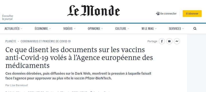 美国疫苗为何火速获批?法国媒体爆出一个猛料