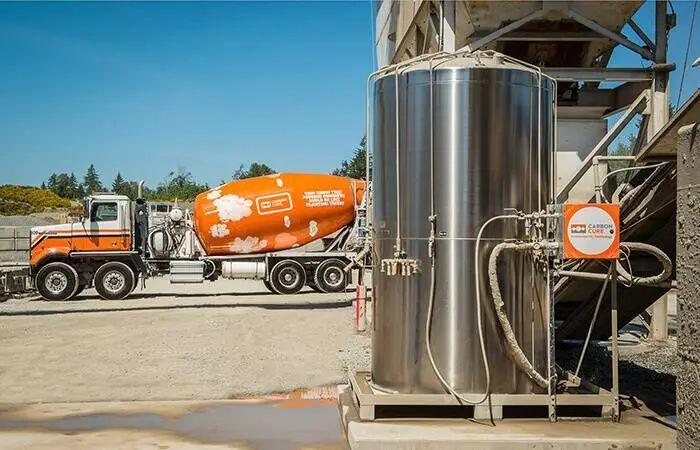 CarbonCure 混凝土运输车. 图片来自:CarbonCure
