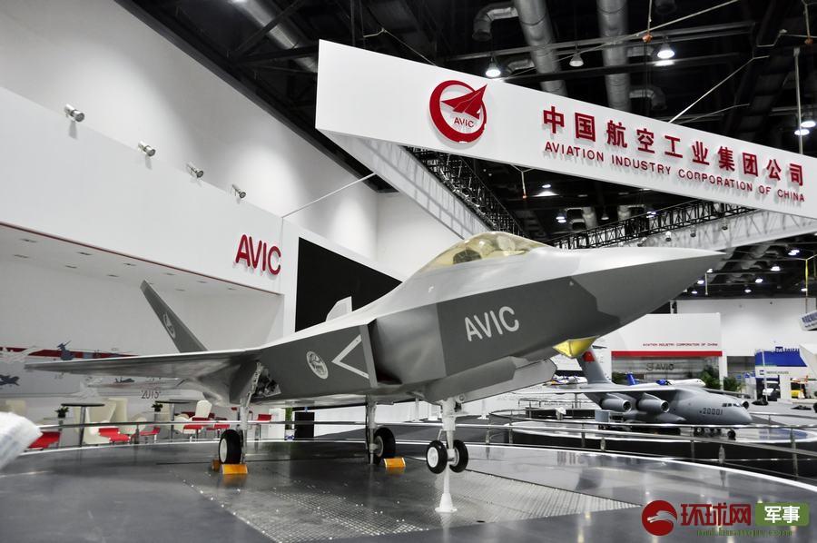 2015年9月16日,第十六屆北京國際航空展在北京開幕,殲-31飛機大比例模型首次亮相北京航展。 楊鐵虎 攝