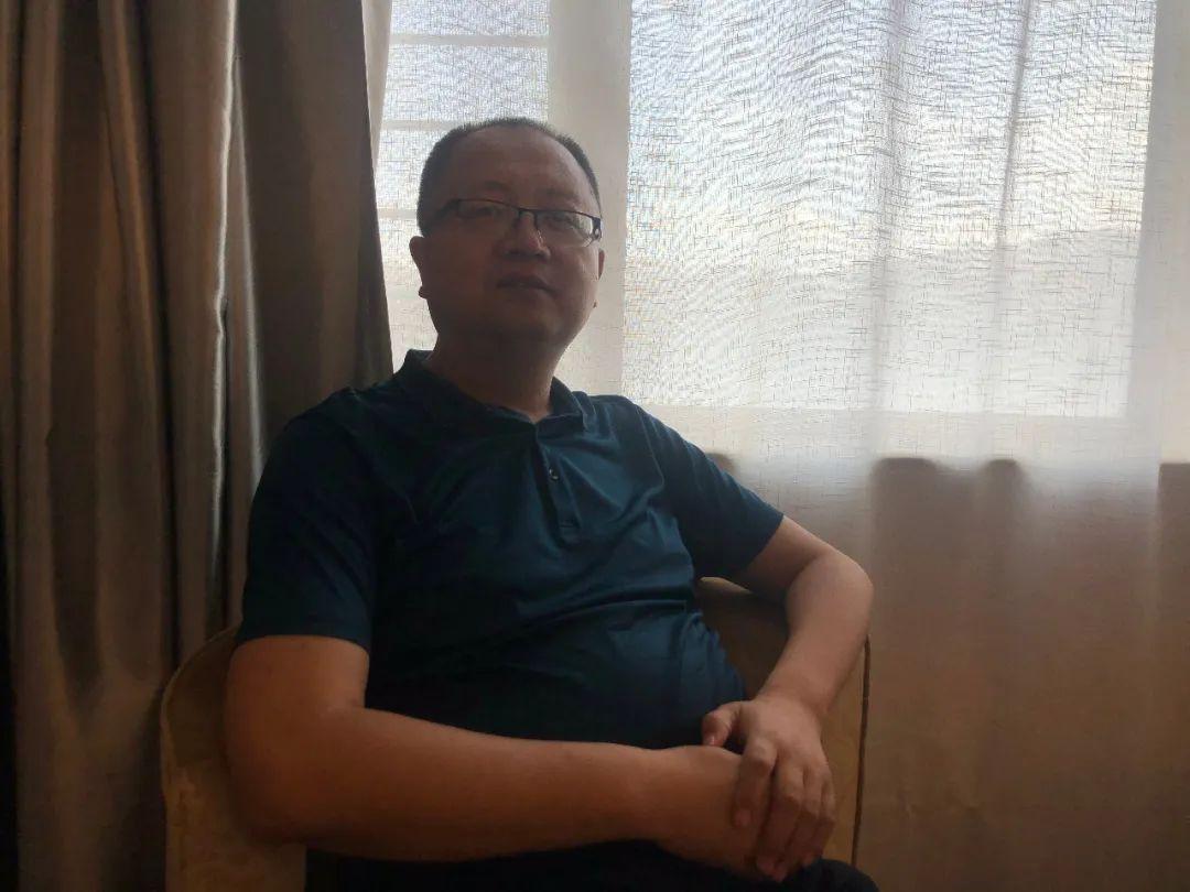 6月3日,刘争平接受新京报记者采访,他的心愿是青藏铁路实现电气化。新京报记者 杜寒三 摄