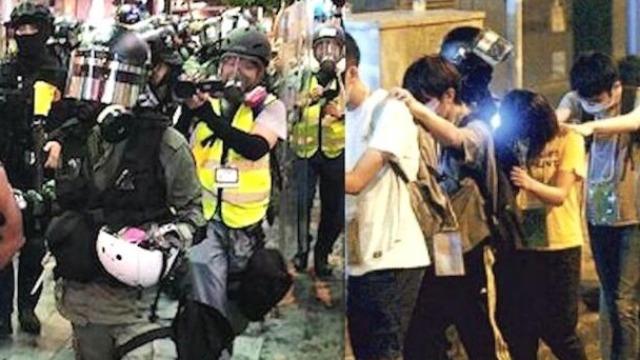 """港警""""浴血大战""""27小时 强势逮捕730名暴徒""""援兵"""""""