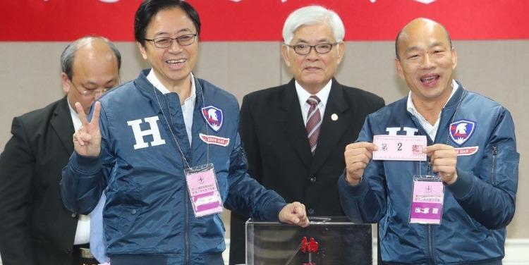 台湾2020大选号次出炉!韩国瑜2号蔡英文3号