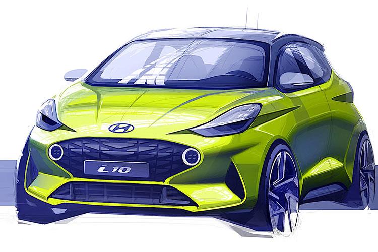 新一代现代i10设计草图曝光法兰克福车展首发