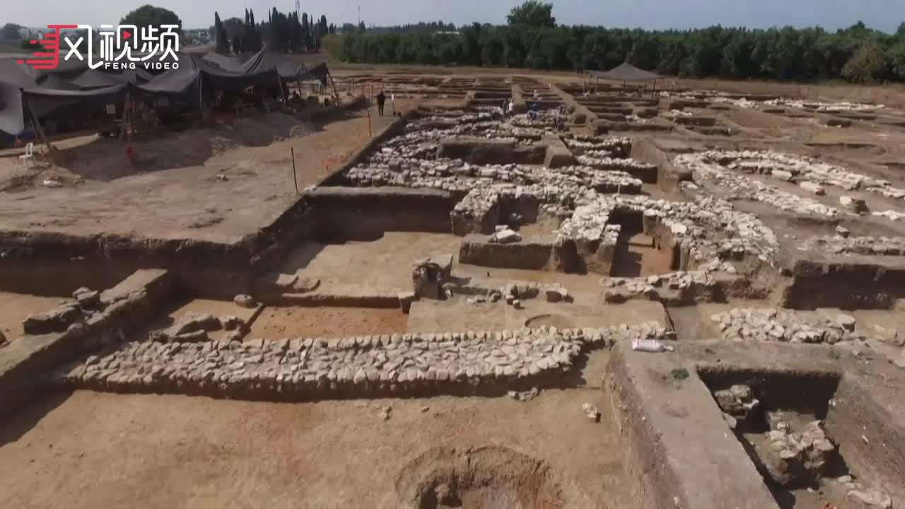 """以色列发现5000年前迦南古城遗址 被称作""""青铜时代的纽约"""""""