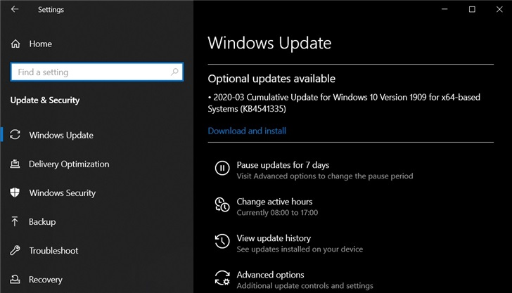 从5 月起,微软全面暂停 Win10 可选更新补丁推送