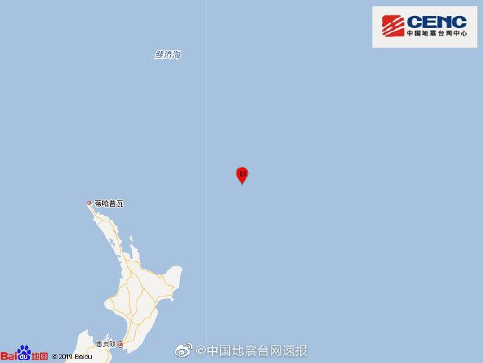 【同一服务器网站】_新西兰克马德克群岛以南海域发生7.3级地震 震源深度10公里