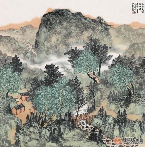 画家王宁绘画艺术作品:笔墨之间,行云流水,叫人称赞