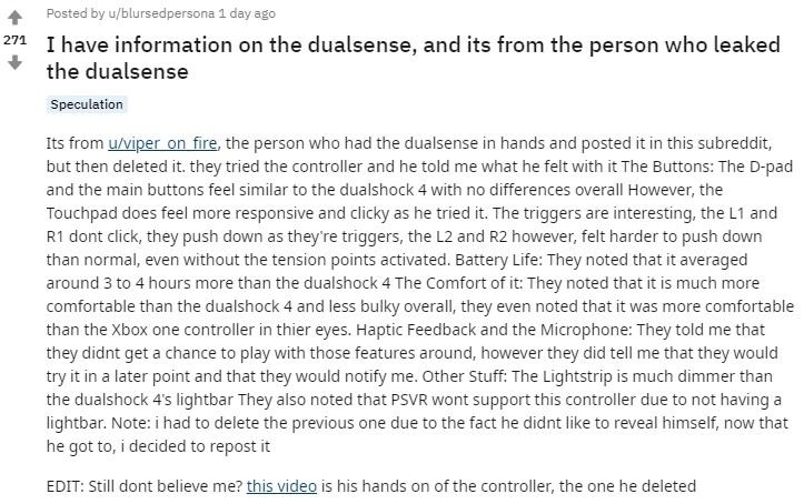 玩家曝PS5手柄DualSense上手体验:手感、续航远超DS4  响应速度很快