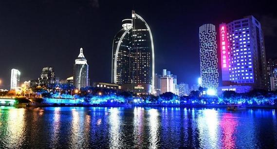 廈門流光溢彩喜迎經濟特區建立40周年