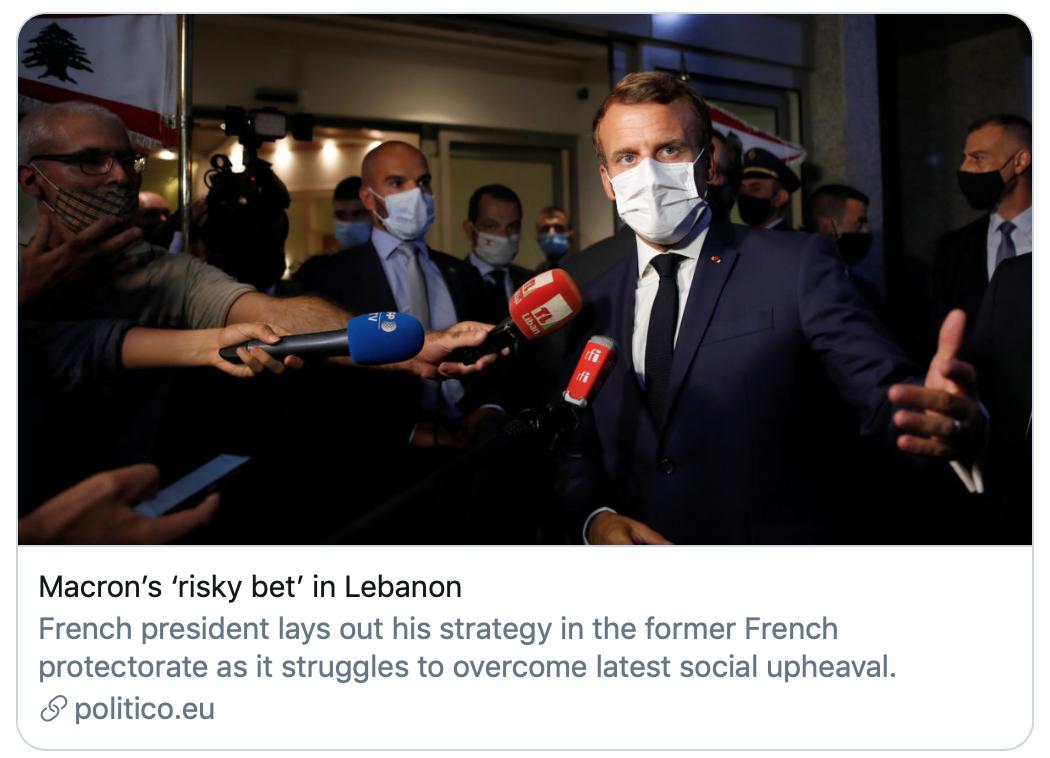【昆山楼凤验证】_大爆炸后黎巴嫩刚任命新总理,马克龙二访贝鲁特