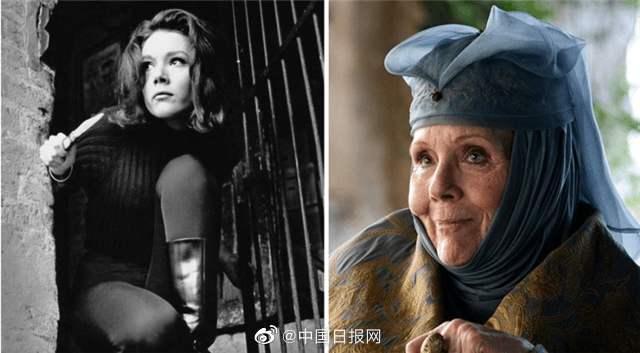 """【黑帽正在播放妻母中文字幕】_《权游》""""荆棘女王""""戴安娜·里格去世 享年82岁"""