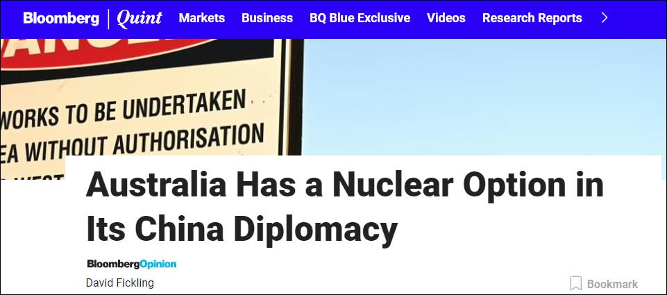 """【文案怎么写】_美媒煽风点火:这是澳大利亚对华外交""""核武器"""""""