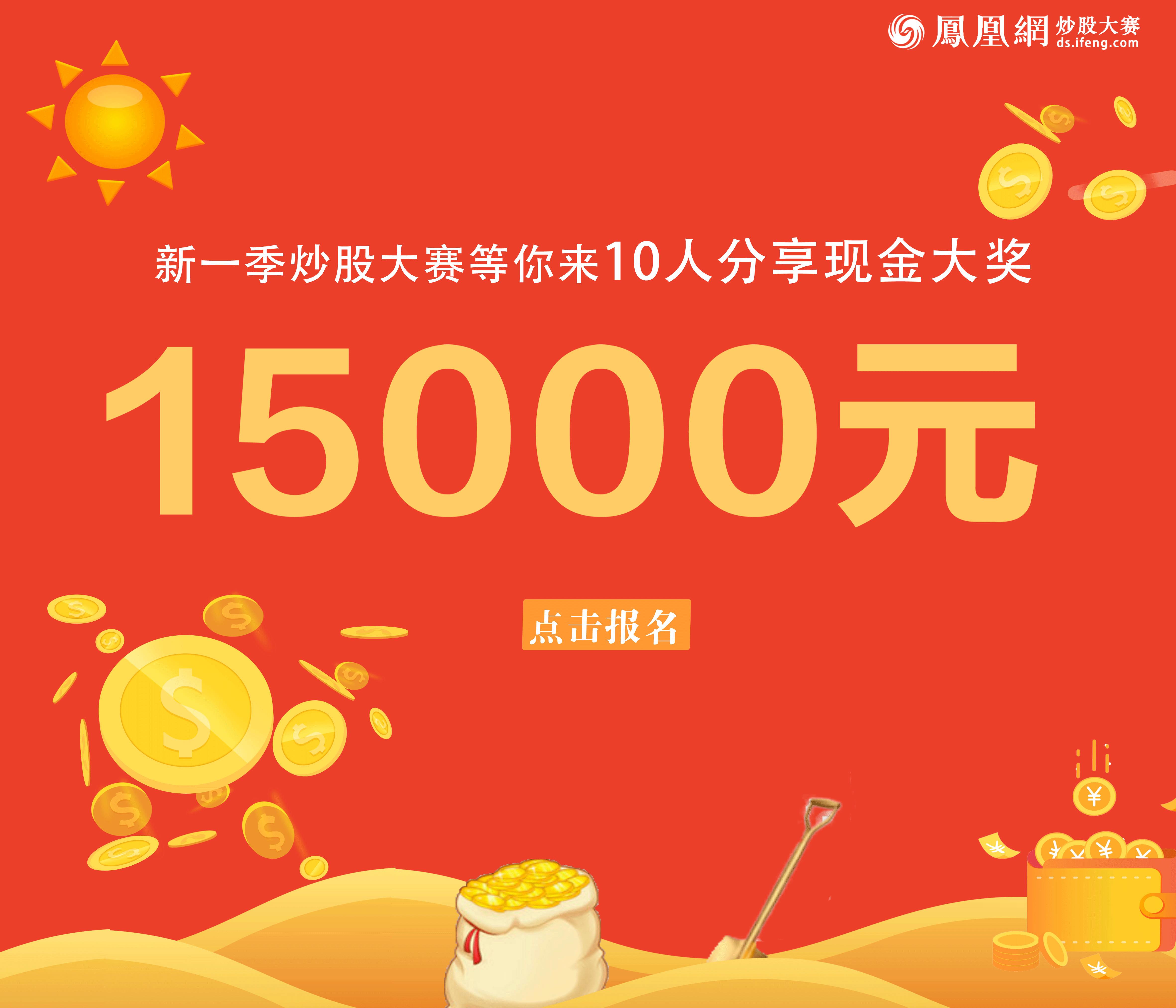 炒股大赛:10人分享15000现金