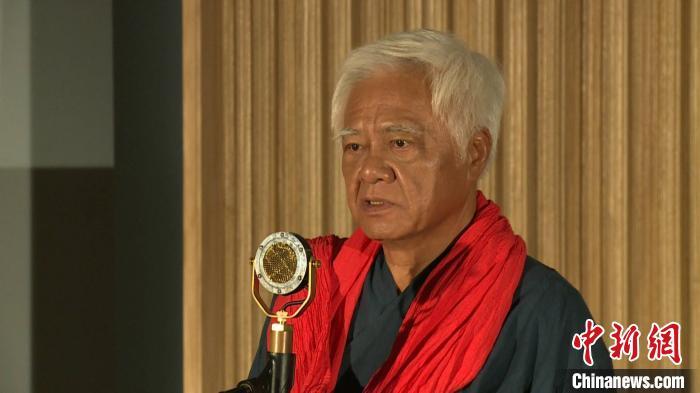 第十二届海峡论坛?海峡影视季9月20日晚间在厦门举办。图为台湾歌手胡德夫。福建广电供图
