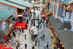 江西龙虎山:带你去古越水街走一走