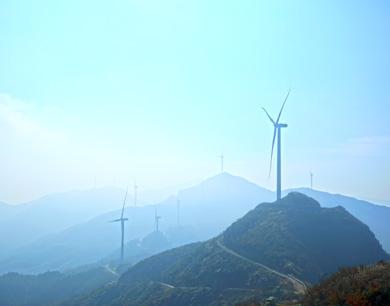 乐安:高山风电场 美景如画