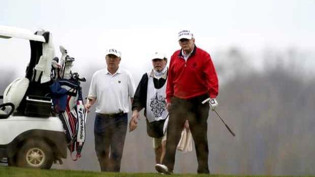 特朗普一大早开完一场G20会议 赶忙去打高尔夫了