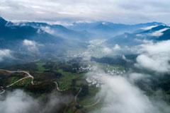 婺源江岭村:雨过天晴云雾缭绕宛若仙