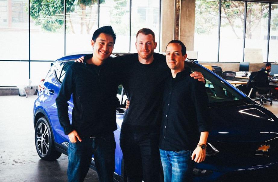 Twitch的创始人Justin Kan(左)Kyle Vogt(中)和Emmett Shear(右)