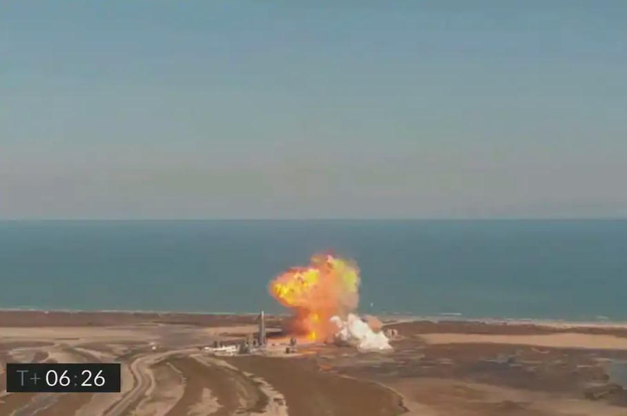 著陸時再次爆炸!SpaceX試射星際飛船最新原型SN9
