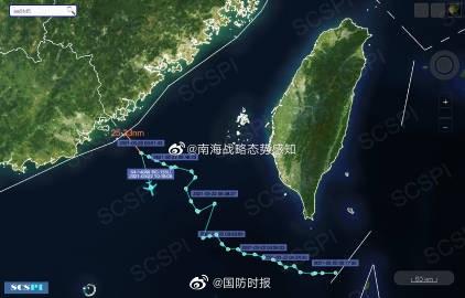 RC-135U电子侦察机抵近至我领海基线外25.33海里处,后掉头折返。