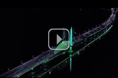 江西吉水县:流光溢彩 夜景迷人