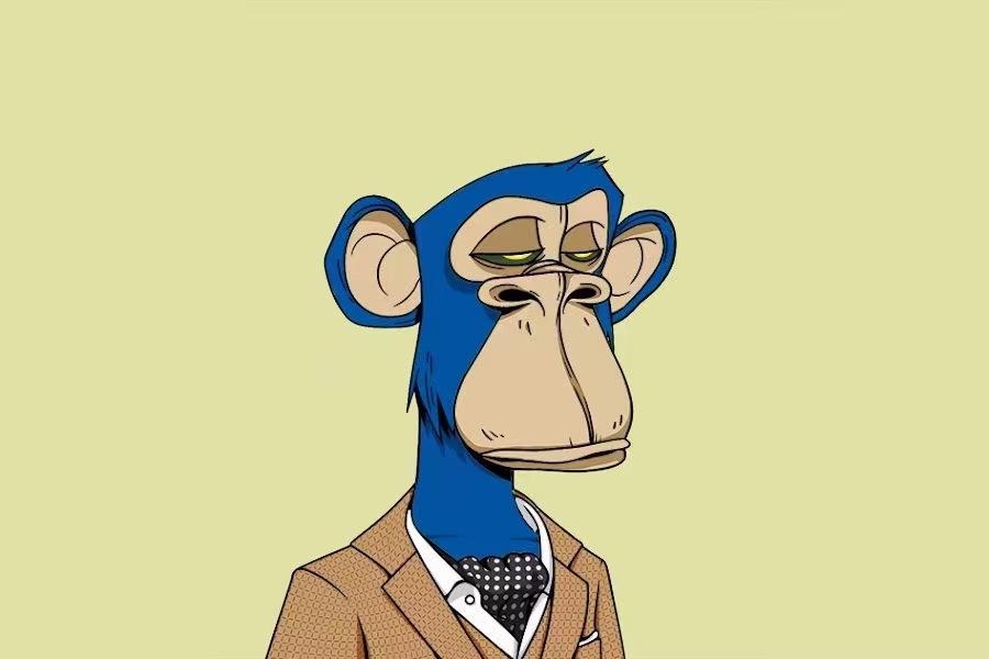 """(图:NBA球星库里18万美元购买的""""无聊猿""""头像。)"""