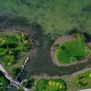 这就是山东丨凤瞰齐鲁:航拍春日济南华山,满目绿意美不胜收