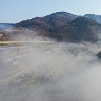 凤瞰齐鲁 | 济南九如山现平流雾奇观