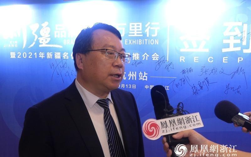 新疆维吾尔自治区商务厅副厅长刘斌 尚天宇摄