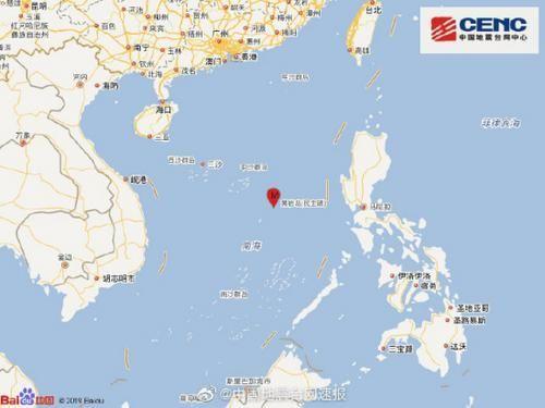 国家地震台网_南海海域发生5.2级地震 震源深度20千米_海南频道_凤凰网
