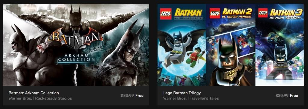 为了吸引用户 Epic Games六款《蝙蝠侠》游戏限免下载