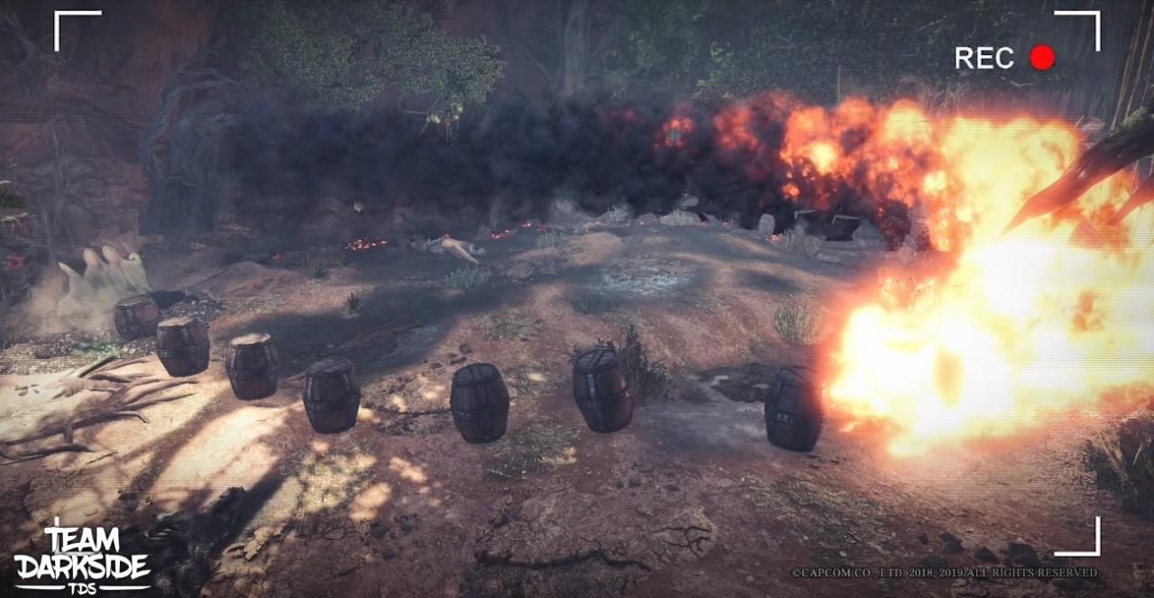《怪物猎人世界》100多个大爆桶成功狩猎历战猛牛龙
