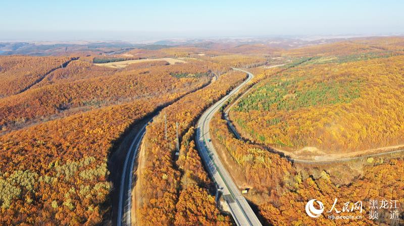 国道鹤岗至大连公路杏山至省界段项目主体交工通车