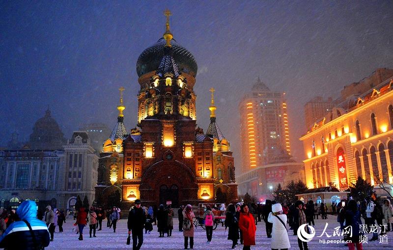 """冬季打卡哈尔滨游客与雪有约""""不虚此行"""""""